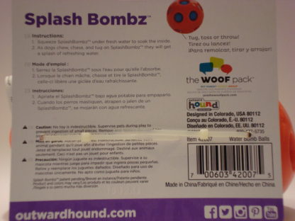 Outward Hound splash ball package back