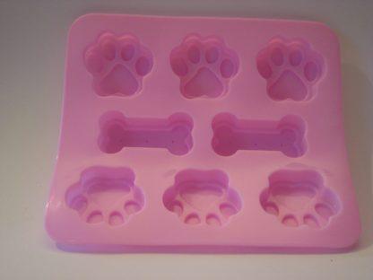 siliconen bakvorm hondenpootjes botjes