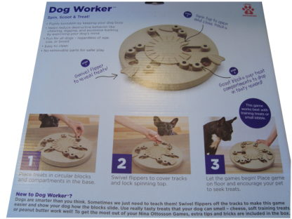 Nina Ottosson dog worker puzzel doos achterkant