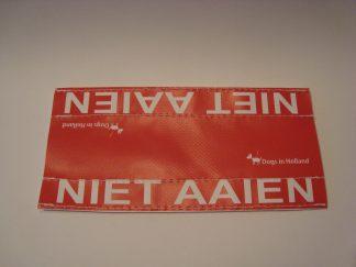 niet aaien label riem