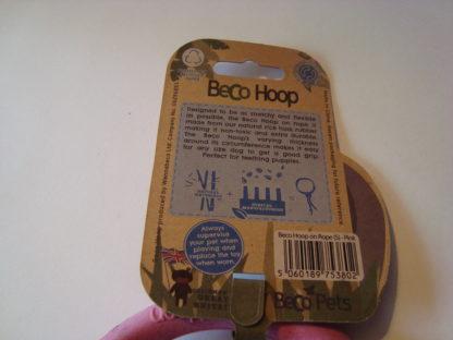 Beco Hoop on a rope etiket achter