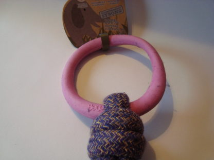 Beco Hoop on a rope roze detail