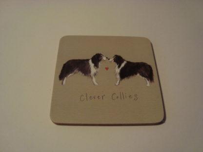 Onderzetter coaster clever collies Alex Clark 10x10