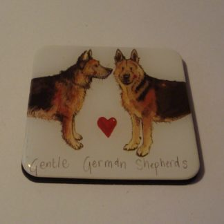 Koelkastmagneet gentle german shepherds Alex Clark 6x6