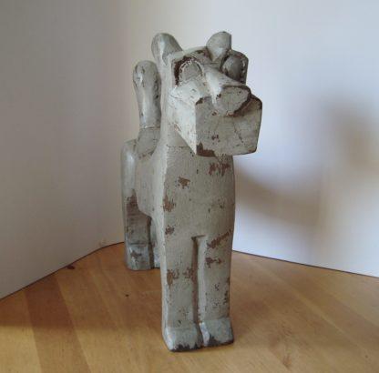 ByMooss houten hond grijs voor woondecoratie