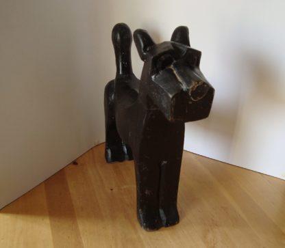 ByMooss houten hond zwart voor woondecoratie