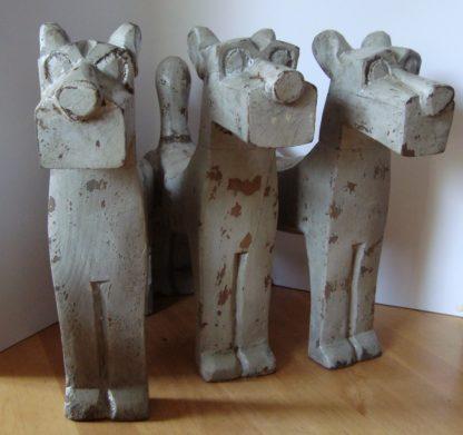 ByMooss houten honden grijs groep woondecoratie