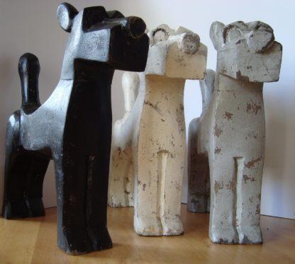 ByMooss houten honden mix voor 2 woondecoratie