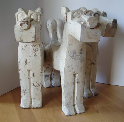 ByMooss houten honden wit groep woondecoratie