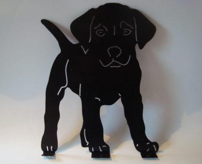 metalen silhouet puppy buiten decoratie