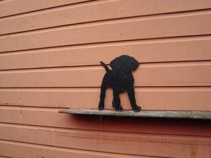 metalen silhouet puppy buiten decoratie schuur