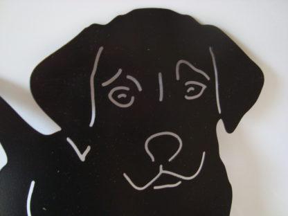 metalen silhouet puppy buiten decoratie kop