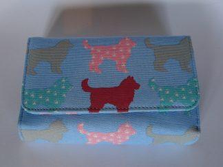 Miss Lulu portemonnee blauw voorkant