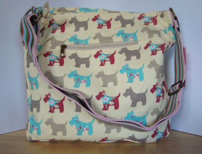 Miss Lulu schoudertas scottie beige
