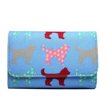 MissLulu Portemonnee hondenmotief blauw1