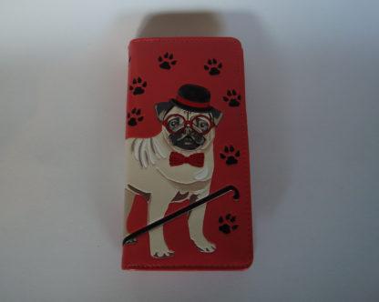 Shagwear portemonnees puglife rood mopshond