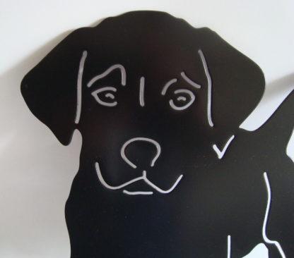 puppy tuindecoratie woonaccessoire silhouet metaal kop