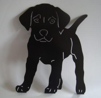 puppy tuindecoratie woonaccessoire silhouet metaal