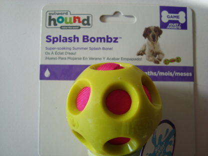 Outward hound splash bombz bone label voor