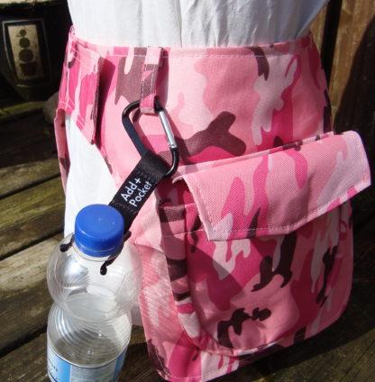 Add Pocket heuptassen met flessenhouder