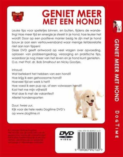 Dvd geniet meer met een hond achterkant
