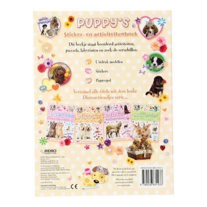 Puppys sticker- en activiteitenboek achterkant