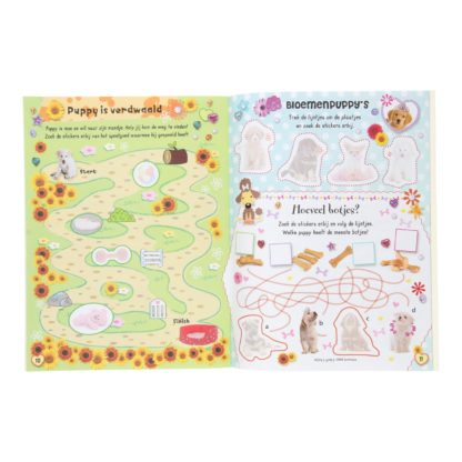 Puppys sticker- en activiteitenboek binnenkant