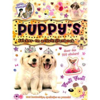 Puppys sticker- en activiteitenboek voorkant