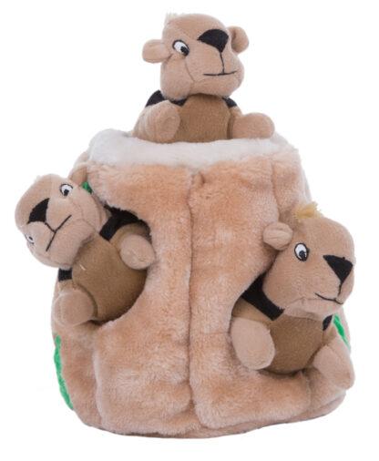outward hound hide-a-squirrel puche hondenspeelgoed