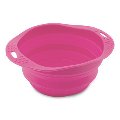 beco reis voer- en drinkbak roze